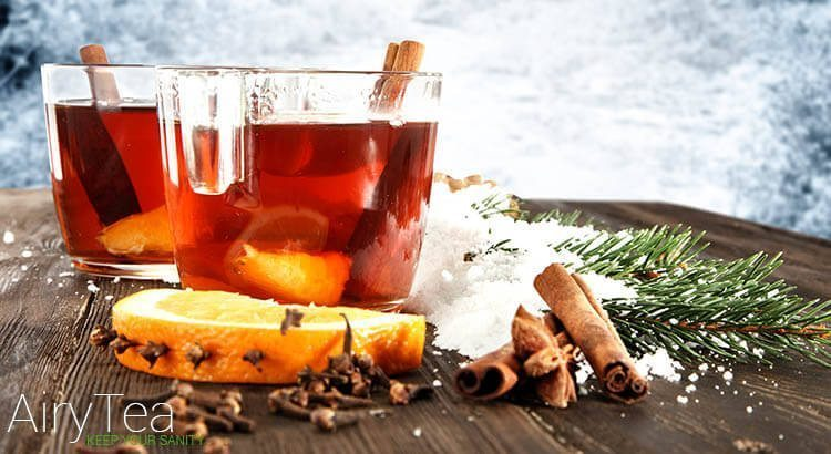 Cinnamon and cloves inside tea