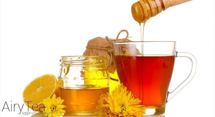Honey added to tea