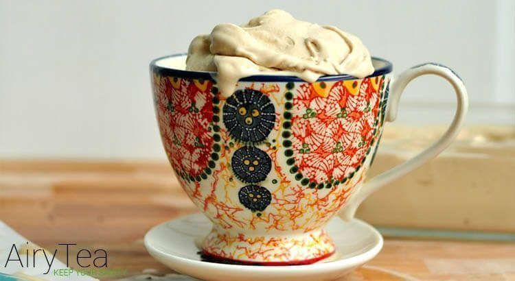 Ice cream inside tea