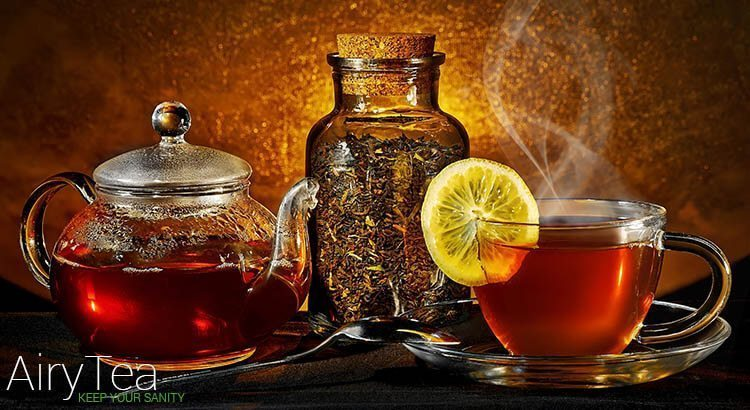 Lemon inside tea
