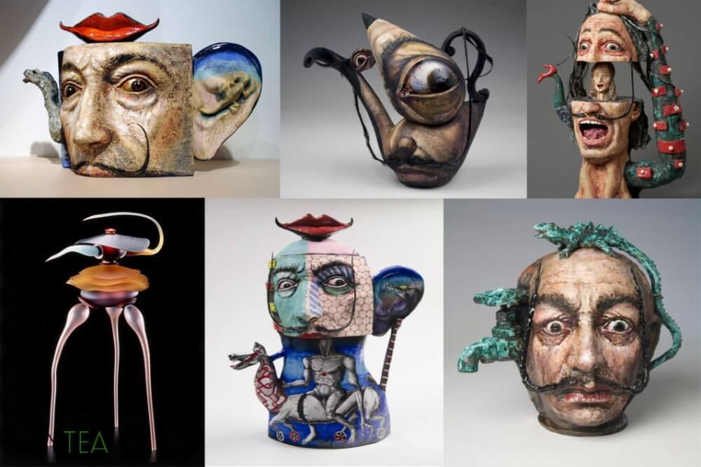 Amazingly Weird Salvador Dali Teapots