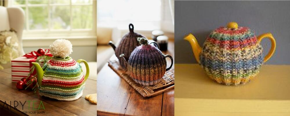 Teapots With Knitted Covers