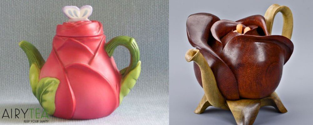 Flower Shaped Teapots