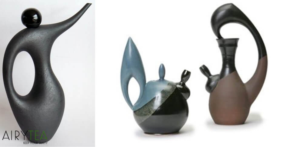 Sculpture-like Teapots
