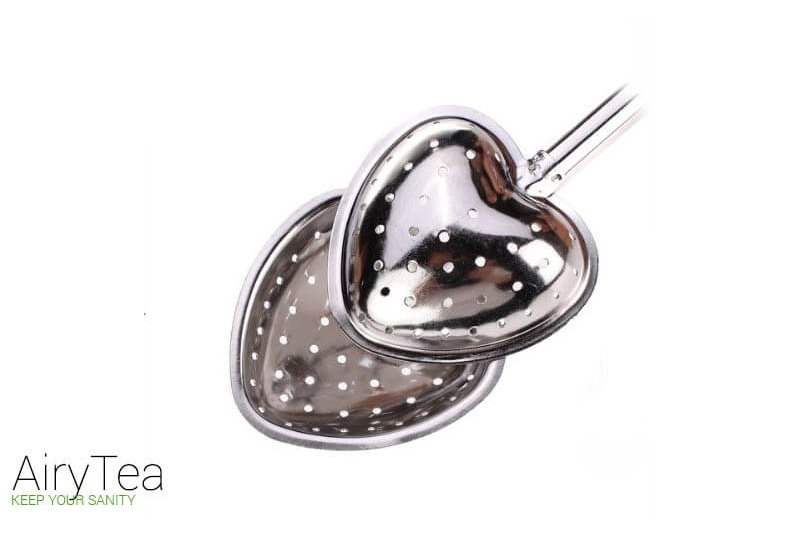 Heart Push Style (Stainless Steel) Tea Infuser