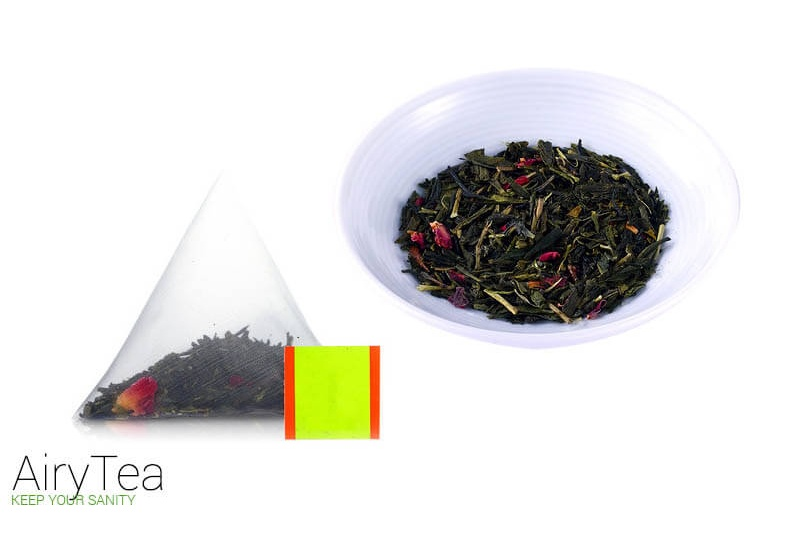 Rose Green Tea Luxury Tea Bags